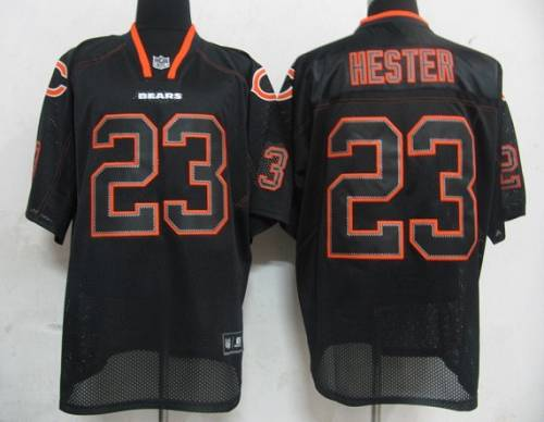 Bears #23 Devin Hester Lights Out Black Stitched NFL Jersey